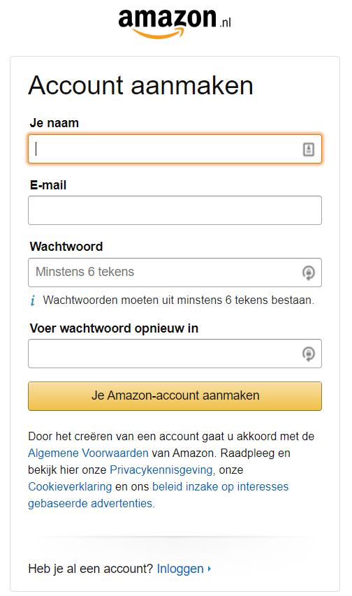 Account aanmaken op Amazon Seller Central Nederland