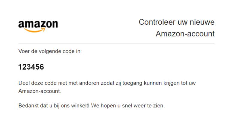 Controleer je nieuwe Amazon Seller Central account met je activeringscode 2