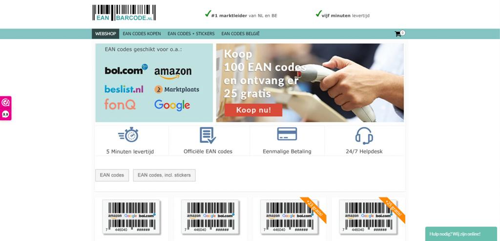 Koop online EAN-codes in