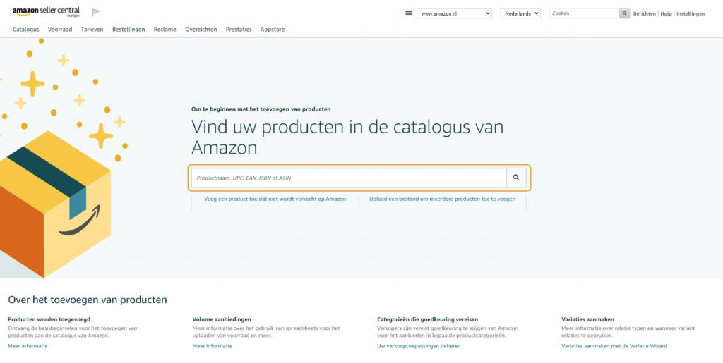 Producten vinden in Amazon's catalogus
