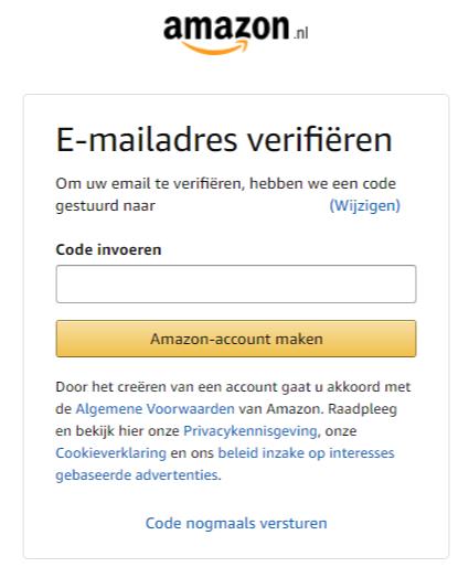 Verifieer je e-mailadres voor je Amazon Seller Central verkoopaccount 2