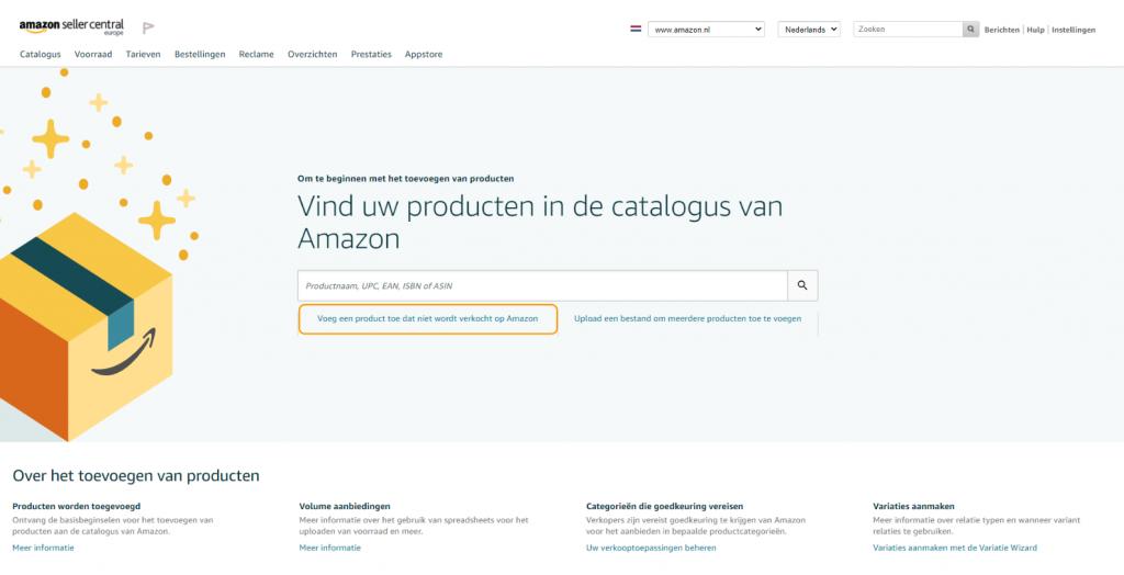 Voeg een nieuw product toe aan Amazon
